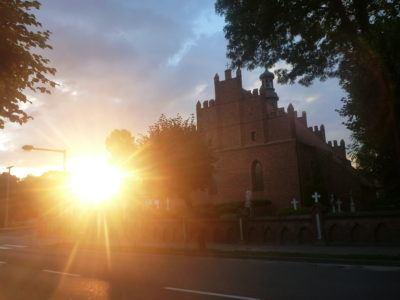 Sunset in Pelplin, Poland
