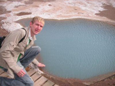 Hot pools near the Geysir, Iceland