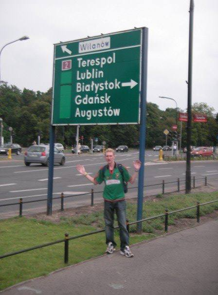 2007 in Warszawa with a sign for Gdańsk...Augustow (spooky).