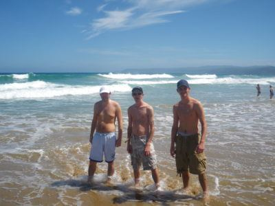 Paul, Daniel and I backpacking Australia