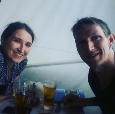 Justyna and I at Przystan Pub Tczew