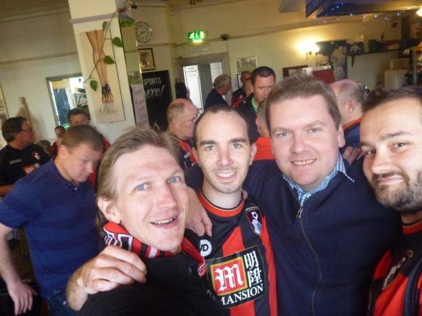 With the lads before AFCB 1-1 West Brom
