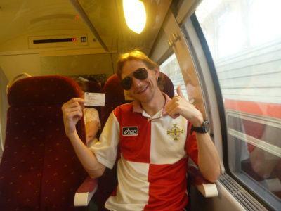 On the train to Monte Carlo, Monaco