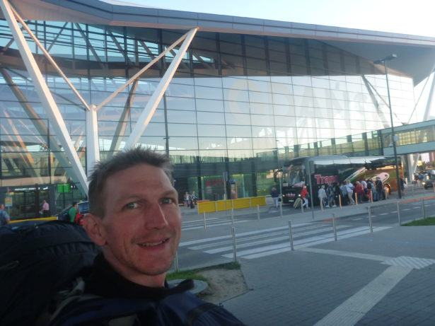 Arrival in Gdansk, looking somewhat jubilant. I had no idea I was staying here long term!!