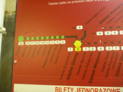 Gdańsk Główny to Tczew looks easy on the train map