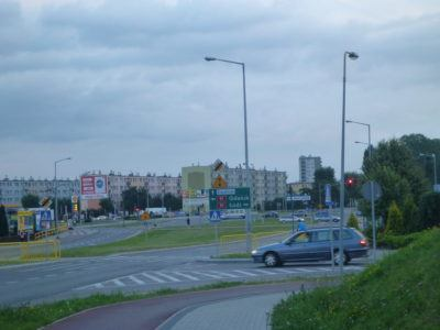 Tczew sign on the roundabout
