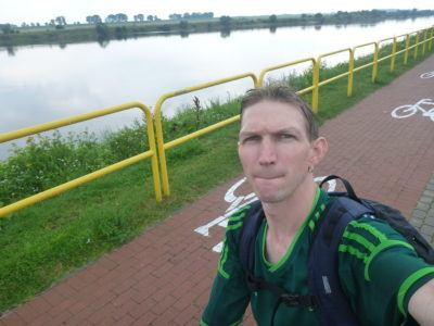 Cycling by the Wisla River
