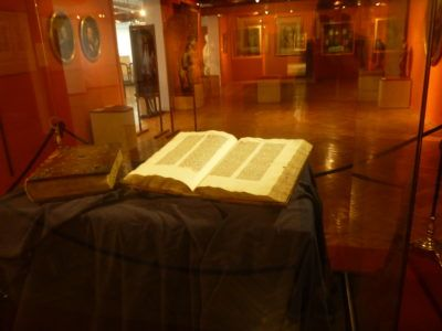 The only original copy of Gutenberg's Bible in Poland