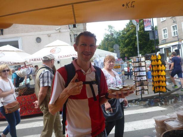 Eating Kashubian food in Gdansk
