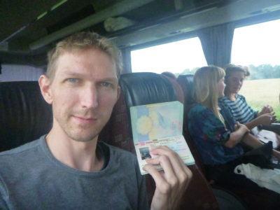 Arrival in Kaliningrad, August 2016 - visa finally granted!