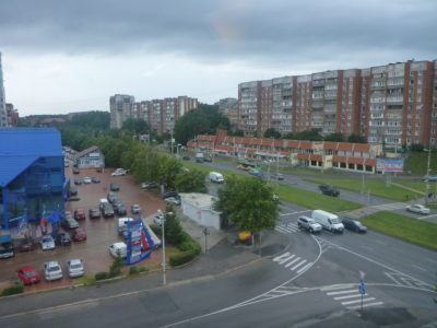 View from my room at the Ibis Kaliningrad Center in Kaliningrad, Russia