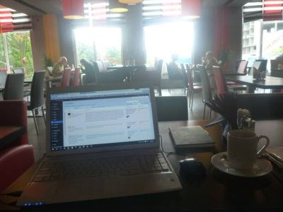 Blogging in the restaurant