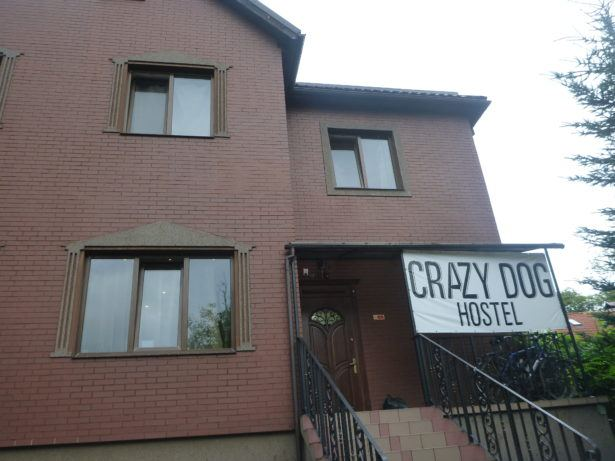 The Crazy Dog hostel is on a residential street