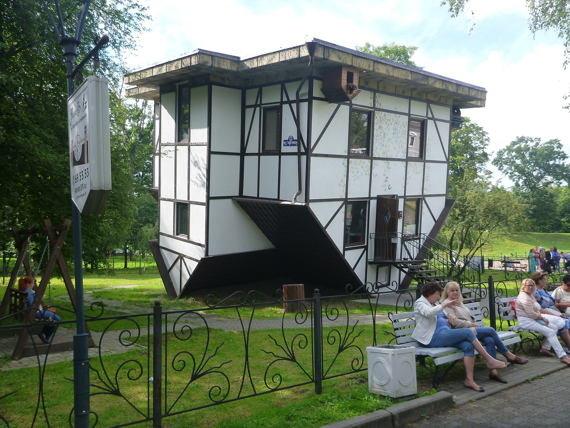 Backpacking in Kaliningrad - the wacky house that is upside down