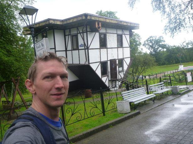 Upside Down House in Park Yunost, Kaliningrad