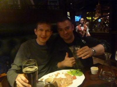Fish and beer with Michal