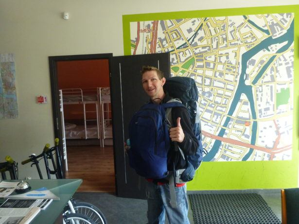 Checking out of a dorm for the last time as a nomad - Hostel Cycle On, Gdansk