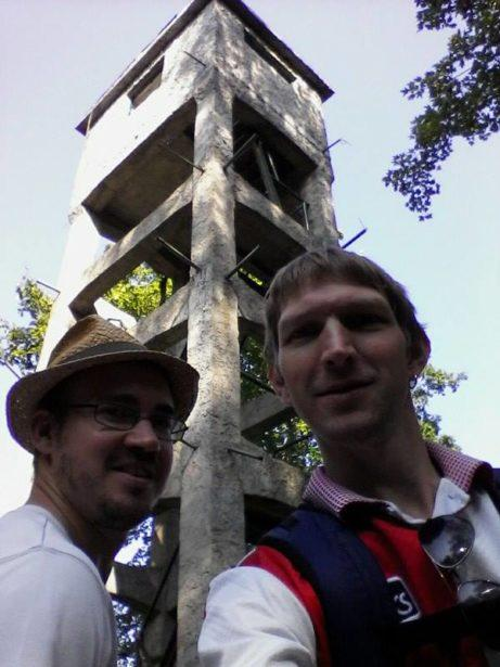 Neil and I at the Lookout Tower