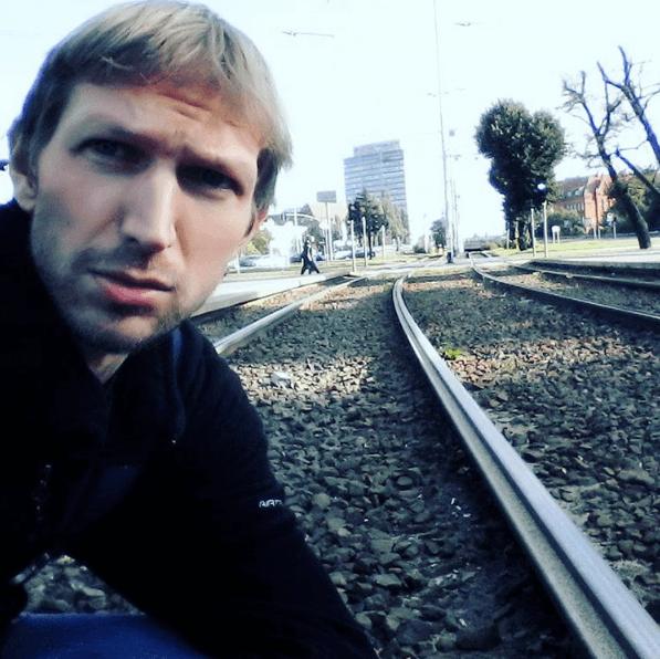 That day on the tram tracks at Gdańsk, Poland.