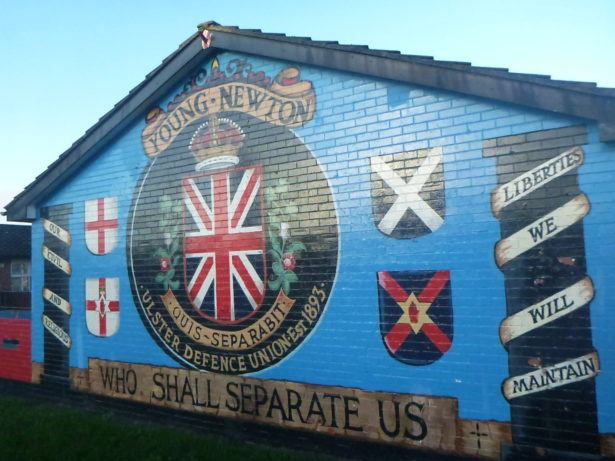A wall mural in Belfast, Northern Ireland (my homeland)