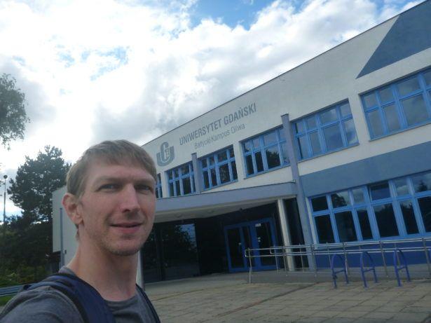 Arrival at the ACK Building on Wita Stwosza Street, Gdańsk Przymorze