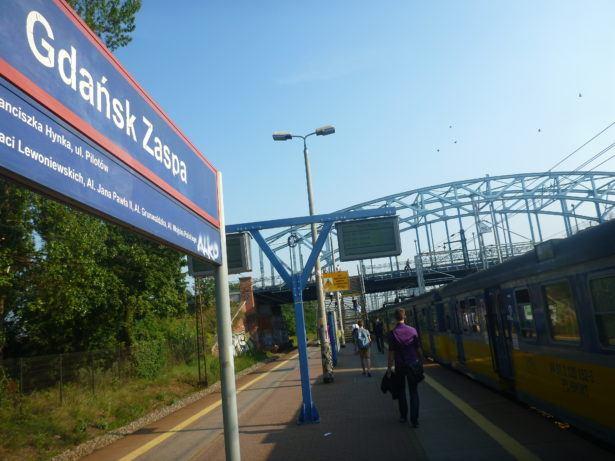 Arrival at Gdańsk Zaspa SKM train station