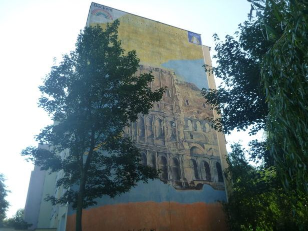 Colosseum Mural on Jan Nagorski Street