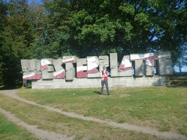 "Touring Westerplatte on what can be described as the ""Hitler tour"""