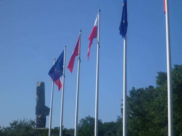 Flags of Poland, EU and Gdansk