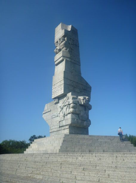 Westerplatte Monument dedicated to those Polish defenders who lost their lives here.