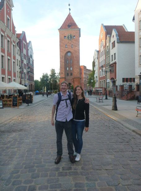 Touring the city of Elbląg with Kasia