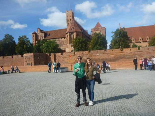 Kasia and I touring Malbork Castle, Poland