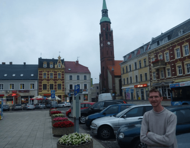 The First Backpacking Travel Writer Tourist in Starogard Gdanski!