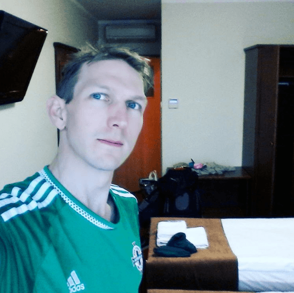 Enjoying the luxury, pureness and peace of my room at Hotel Zawisza. Feeling handsome again for the first time in ages.