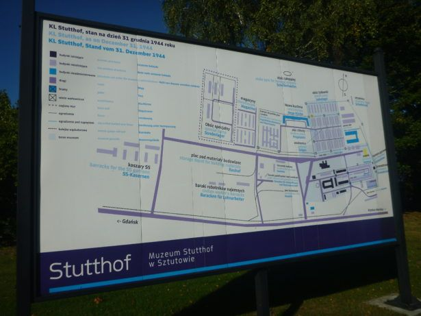 Map at the Entrance to Stutthof