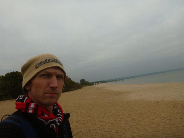 On the beach in Brzezno, Gdańsk