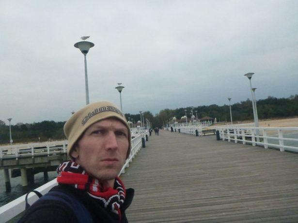 On the pier in Brzezno, Gdańsk