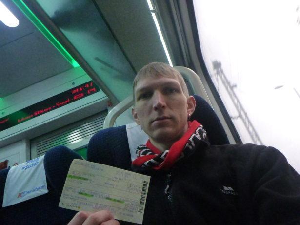 On a fast train to Bydgoszcz.