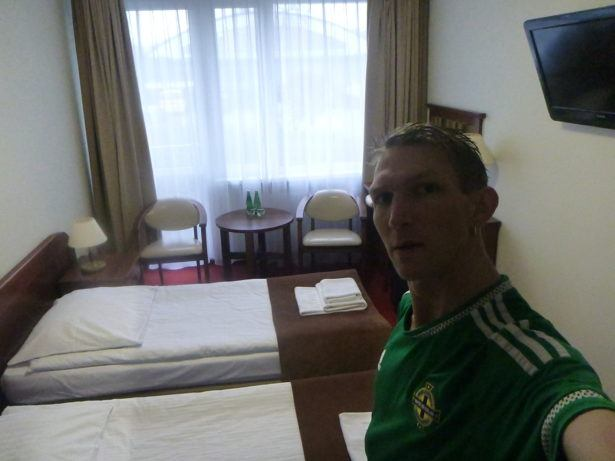 My comfortable room at Hotel Zawisza, Bydgoszcz.