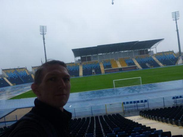 Touring the football stadium