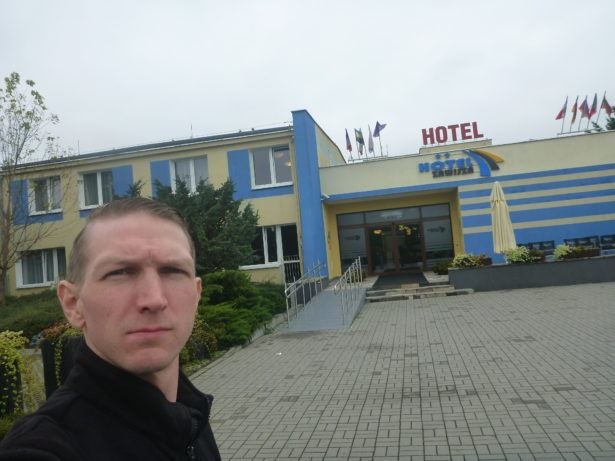 At the Hotel Zawisza in the Lesna area of Bydgoszcz