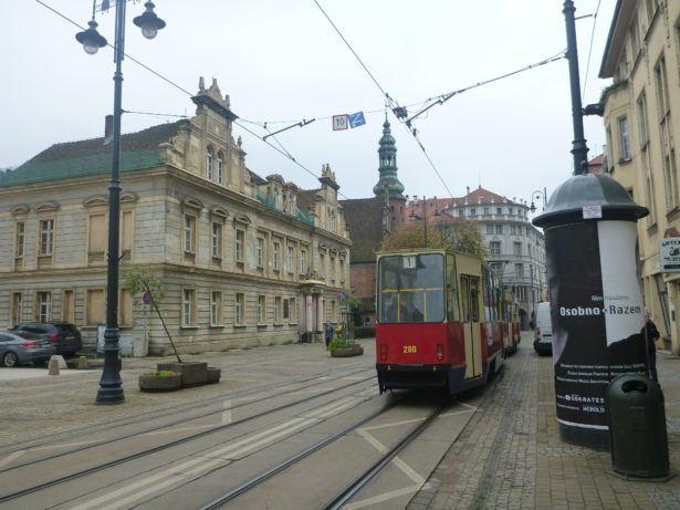 Downtown Bydgoszcz, Poland.