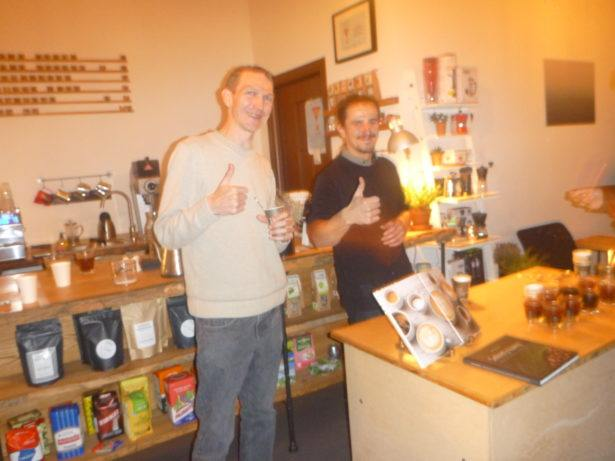 Coffee tasting time in the downtown area