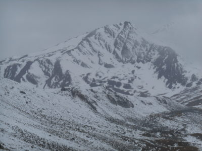 The Gergeti Glacier is somewhere in here.