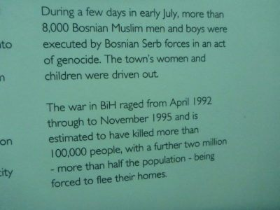 Backpacking in Sarajevo, Bosnia: Visiting The Museum of Crimes Against Humanity and Genocide 1992 - 1995