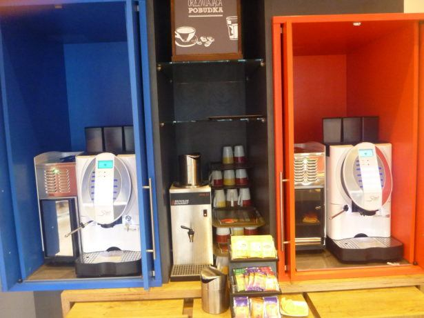 Coffee and tea at Ibis Gdansk