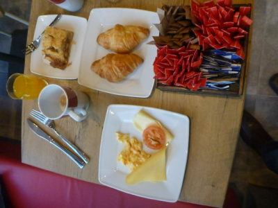 Breakfast at Ibis Hotel Gdansk.