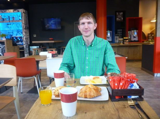 Breakfast at Ibis Hotel Gdansk.