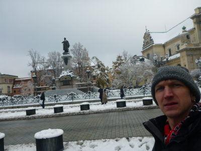 City snow during my Winter Stay at the Ibis Warszawa Centrum, Poland