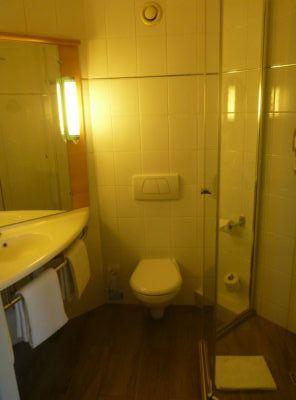 The clean bathroom